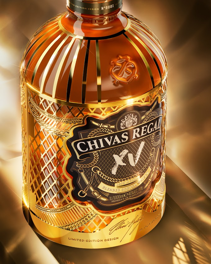 Chivas lança nova garrafa desenhada por Olivier Rousteing