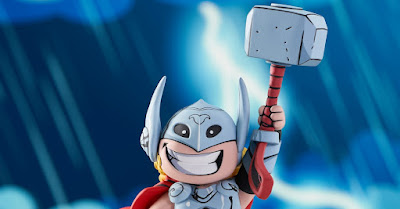 Mighty Thor Animated Marvel Mini Statue by Skottie Young x Gentle Giant