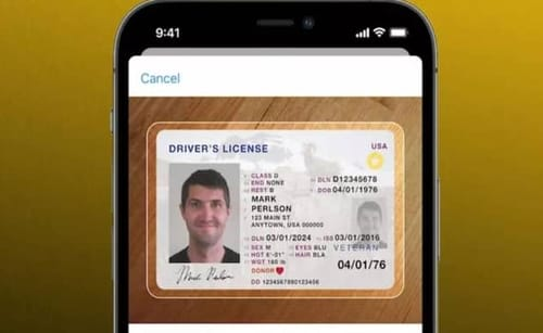 Identification documents should not be stored in Apple Wallet