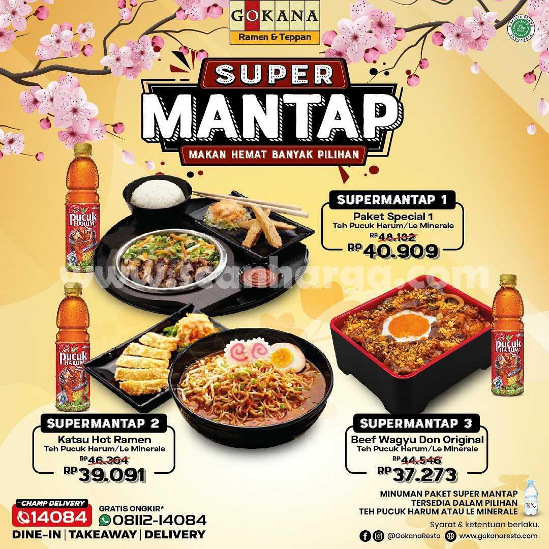 Gokana Promo Super Mantap harga mulai dari 30 Ribu-an