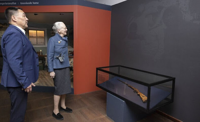 The Queen visited the Hans Egede House and the National Museum