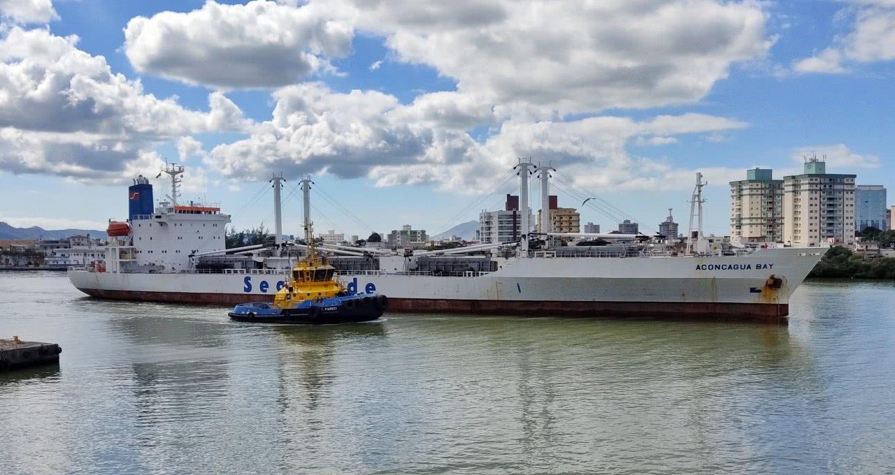 """Porto de Itajaí opera com navio """"reefer"""" por falta de contêineres"""