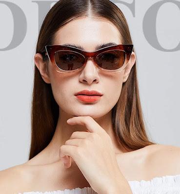 Designer Retro Vintage Cat Eye Sunglasses For Women