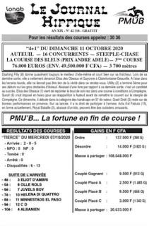 programme quinté Pronostic Lundi 11/10/2021