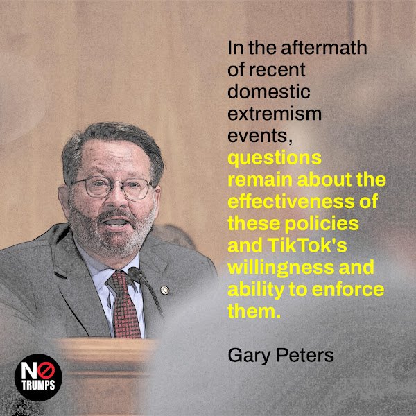 In the aftermath of recent domestic extremism events, questions remain about the effectiveness of these policies and TikTok's willingness and ability to enforce them. — Sen. Gary Peters (D-MI), the chair of the Senate Homeland Security Committee