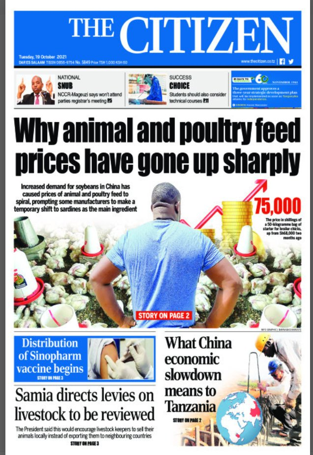 Newspaper front pages for the 19th of October, 2021