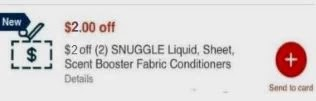 $2.00 off two any Snuggle items CVS crt store Coupon (Select CVS Couponers)
