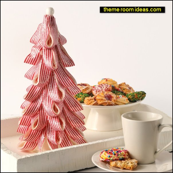 Peppermint Candy Ribbon Tree candy christmas decorations candyland