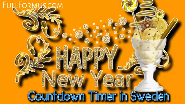 Happy New Year's in Sweden Countdown 2022