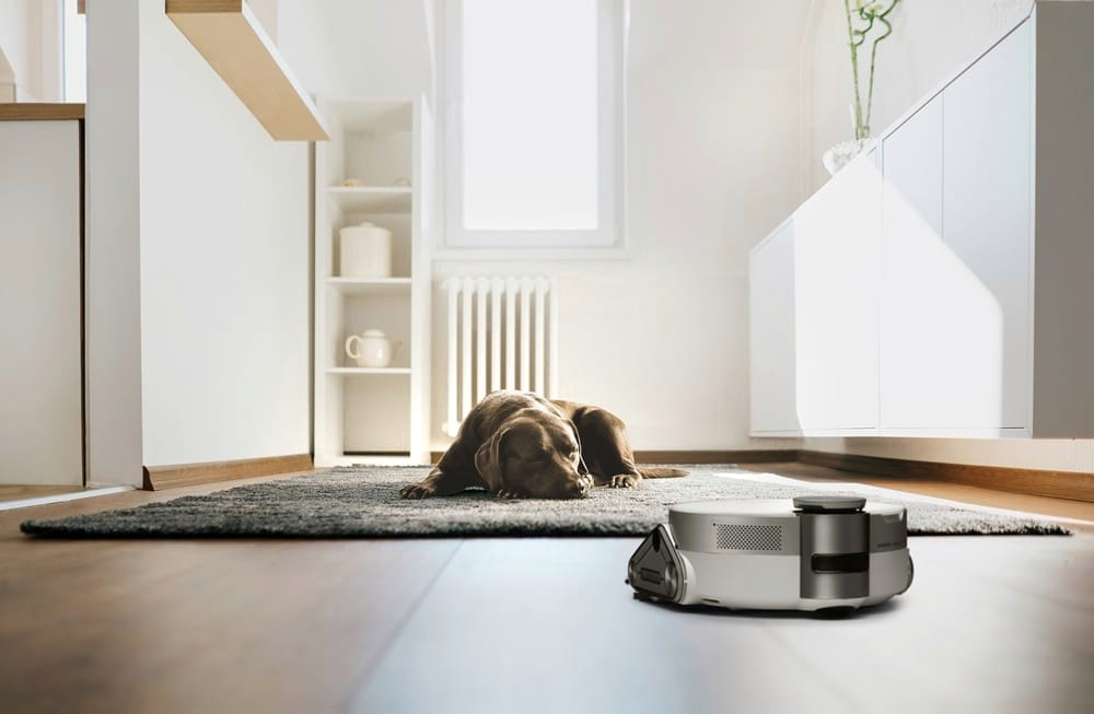Bespoke Jet Bot AI+ keeps an eye on pets when you are away