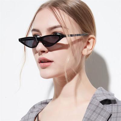 Best Black Small Narrow Cat Eye Sunglasses