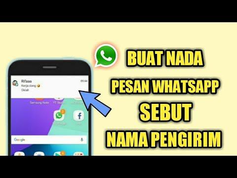 Cara Agar Whatsapp Membacakan Nama Pengirim Pesan