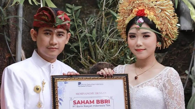 Pria di Bali Berikan Mahar Pernikahan 25.000 Lembar Saham BRI