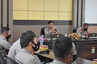 Kapolres Banggai Apresiasi Pelaksanaan Tugas Kepolisian Jajaranya