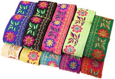 Vintage Jacquard Ribbons For Embellishment Craft Supplies