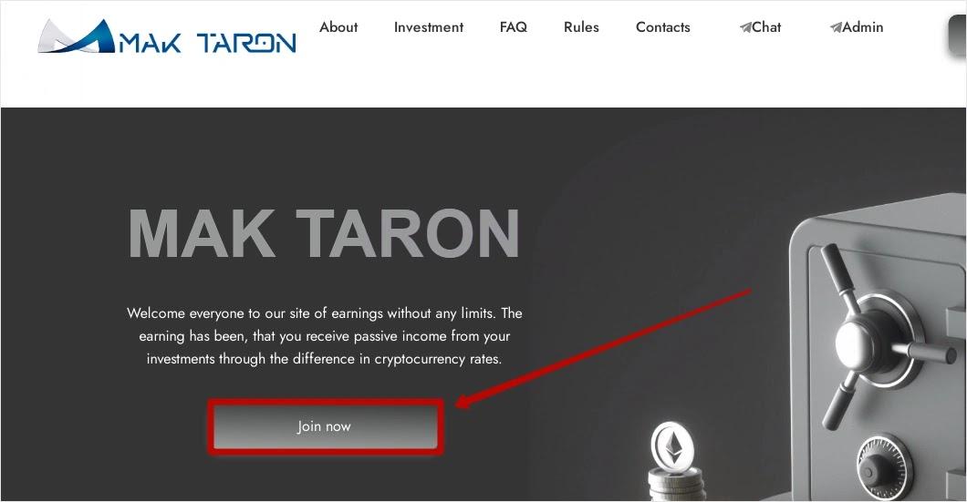 Регистрация в Mak-Taron