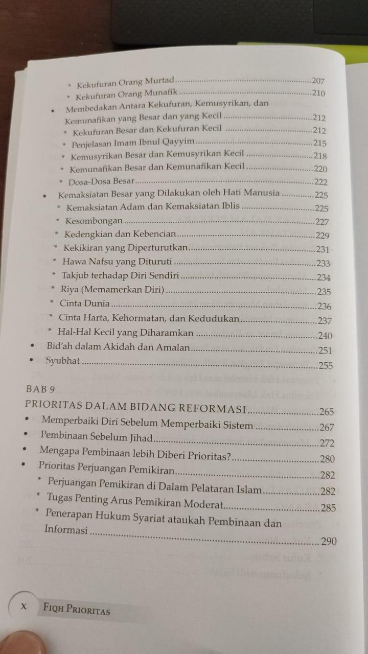 Daftar isi buku Fiqh Prioritas - Dr. Yusuf Al Qaradhawi (4)