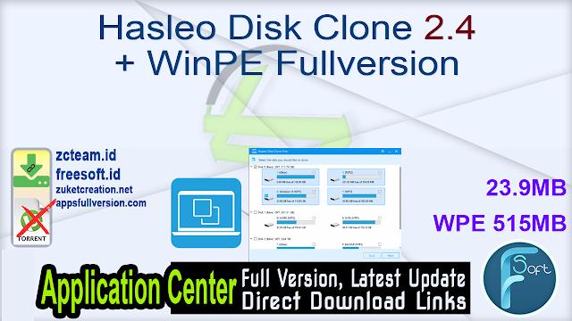 Hasleo Disk Clone 2.4 + WinPE Fullversion