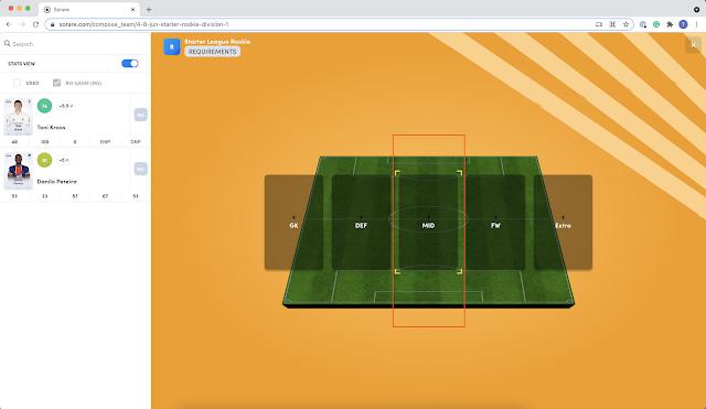NFT fútbol Sorare
