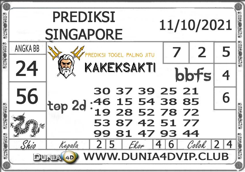 Prediksi Togel SINGAPORE DUNIA4D 11 OKTOBER 2021