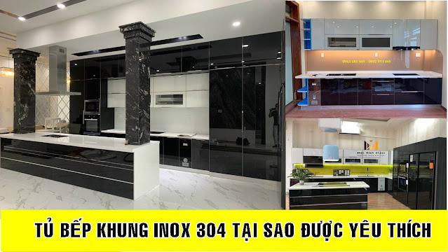 Báo Giá Tủ Bếp Khung Inox 304