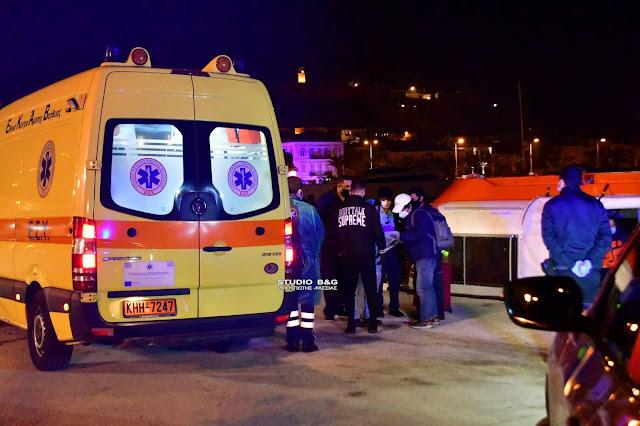 Αποβίβαση ασθενούς επιβάτη κρουαζιερόπλοιου στην Καλαμάτα
