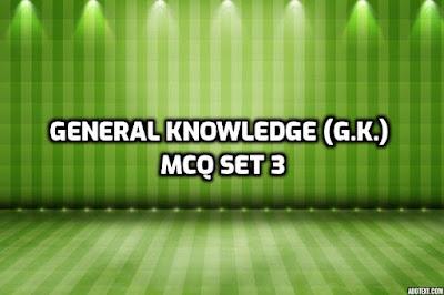 General Knowledge (G.K.) MCQ SET 3