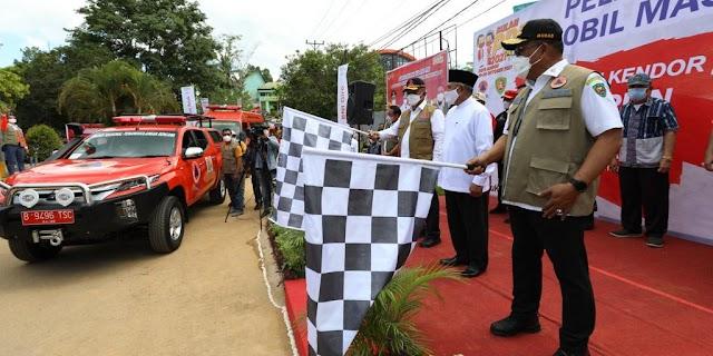 Sepuluh Mobil Masker Diterjunkan di Pusat-pusat Aktifitas Kota Ambon