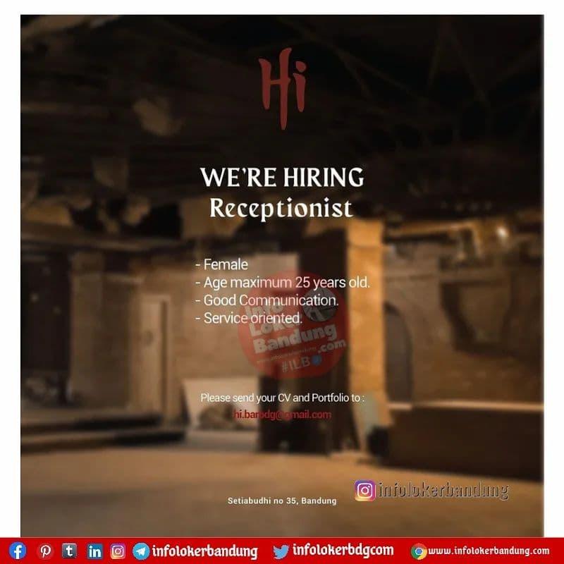 Lowongan Kerja Cashier & Receptionist Hi Lounge And Bar Bandung Oktober 2021