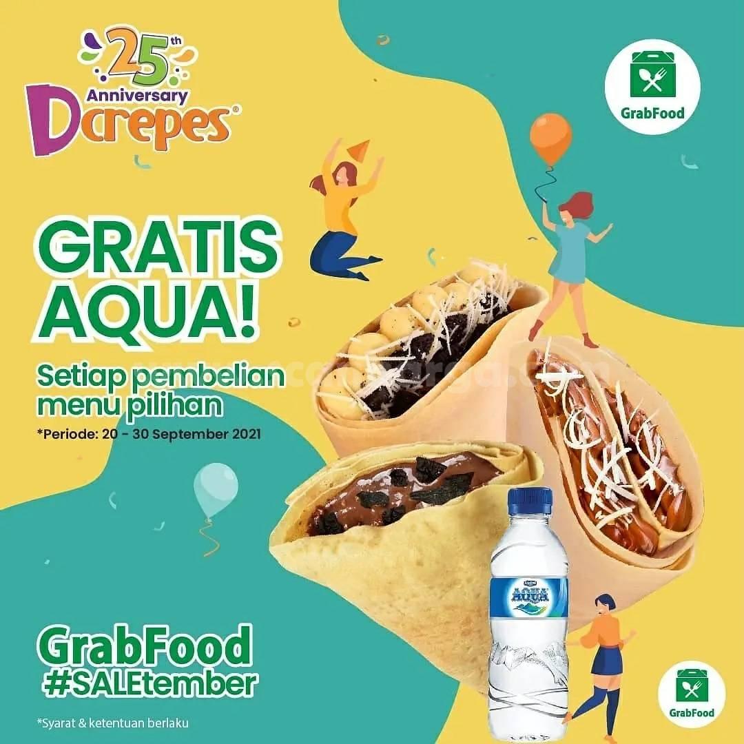 Promo DCREPES GRATIS AQUA via GRABFOOD