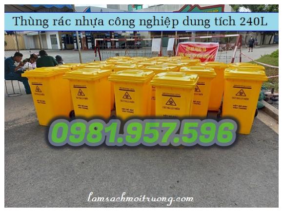 Thùng rác công nghiệp, thùng rác cho bệnh viện, thùng rác 240L