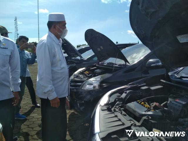 Periksa 136 Mobil Dinas, Bupati Pasbar : Jangan Gunakan Untuk Kepentingan Pribadi