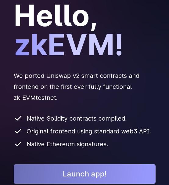 zkEVM testnet
