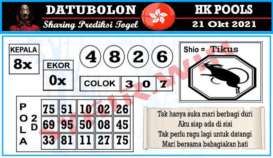 Datubolon HK Kamis 21 Oktober 2021