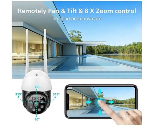 Morecam Outdoor Security Camera with Mobile App