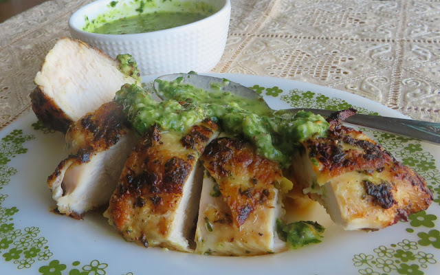 Grilled Chicken Breasts with Chimichurri Sauce