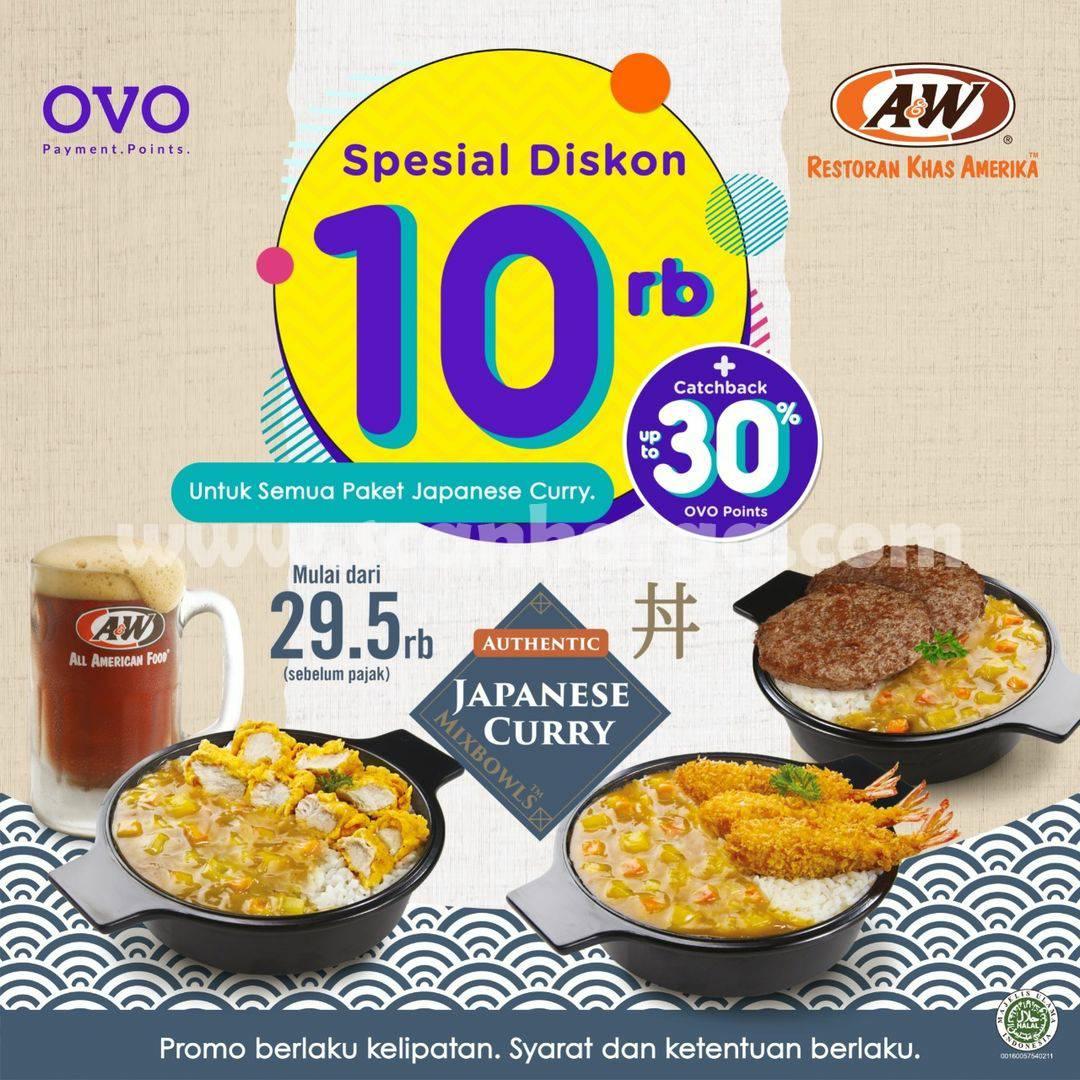 Promo A&W Restoran OVO, Spesial Diskon 10 RB + Cashback 30%