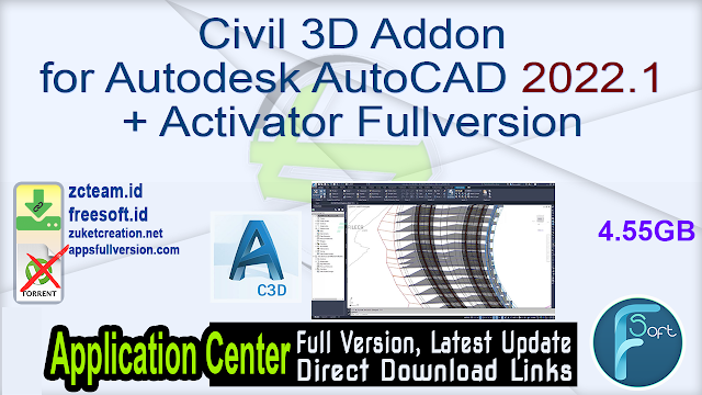 Civil 3D Addon for Autodesk AutoCAD 2022.1 + Activator Fullversion