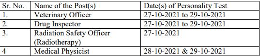 HPPSC Shimla Personality Test Date 2021