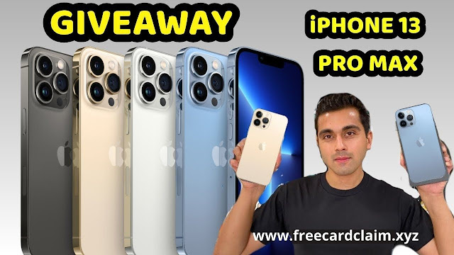 Win an iPhone 13 Pro Max | Giveaway iPhone 13 Pro | How to enter the iPhone 13 giveaway | iphone 13 giveaway 2021