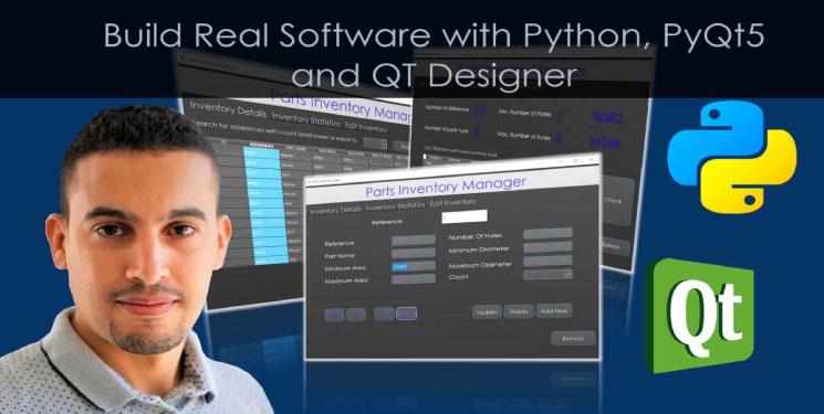 Build Real Software with Python, PyQt5 and QT Designer Download Grátis