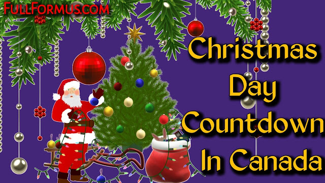 Christmas Day in Canada Countdown 2021