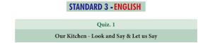 3rd English Basic Quiz Answer key