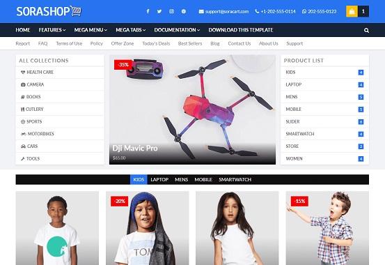SoraShop Business Blogger Template