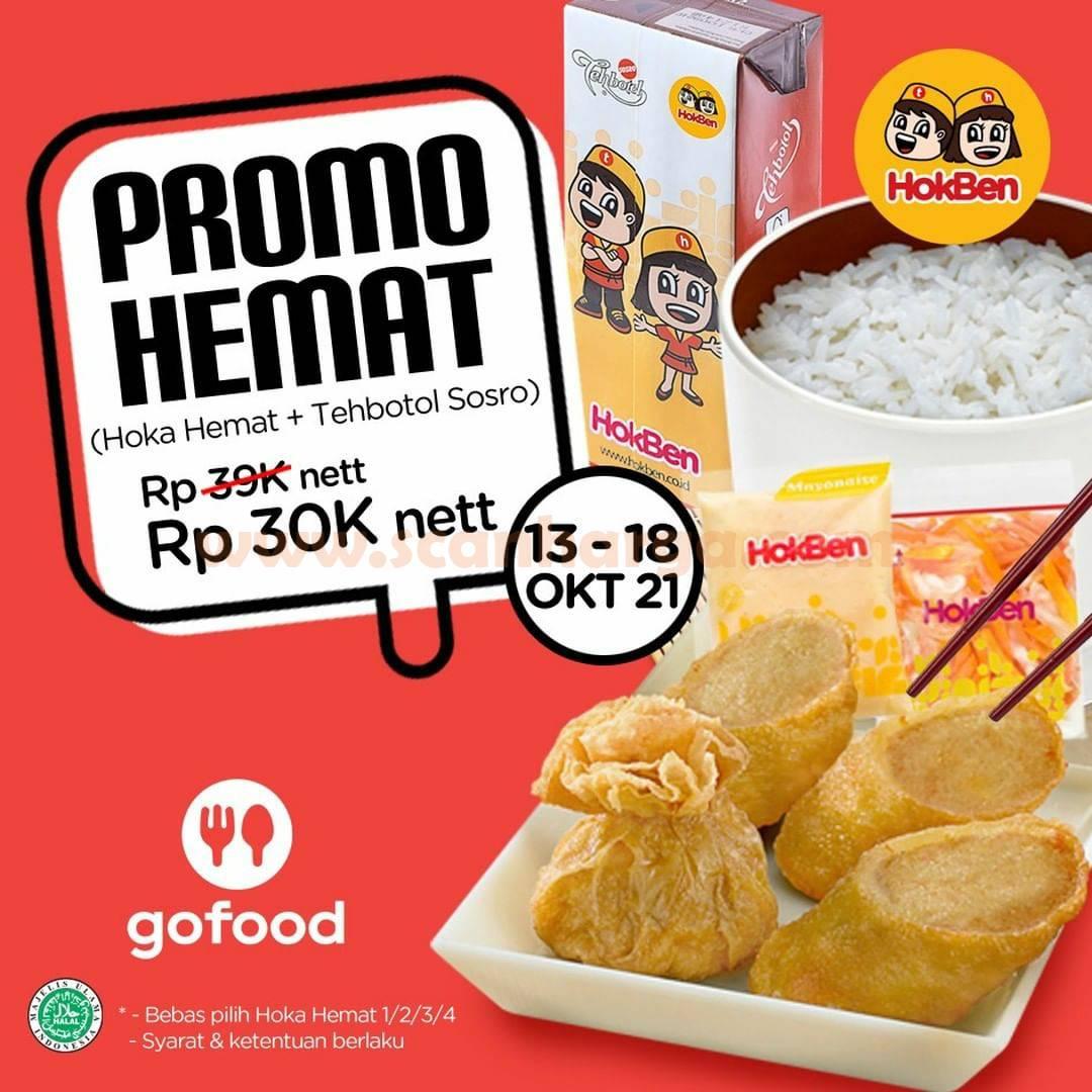 Promo HOKBEN GOFOOD HEMAT – Beli Paket Hoka + Teh Kotak HANYA Rp. 30.000