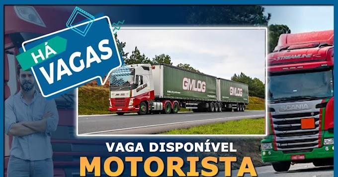 Transportadora GMLog abre vagas para motorista carreteiro