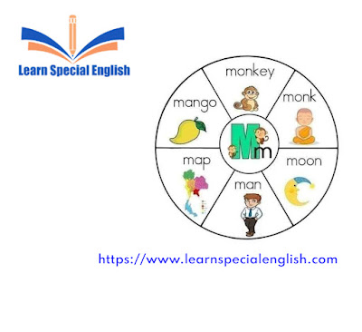 6 common English words that start with the letter M for kids