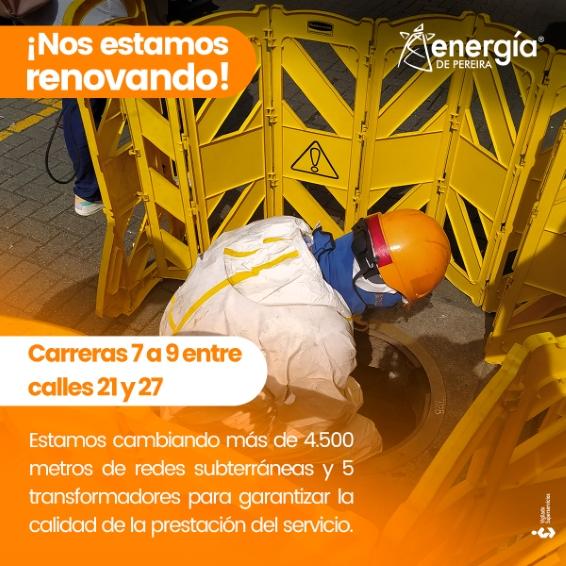 4.500 metros de redes subterráneas en el Centro de Pereira
