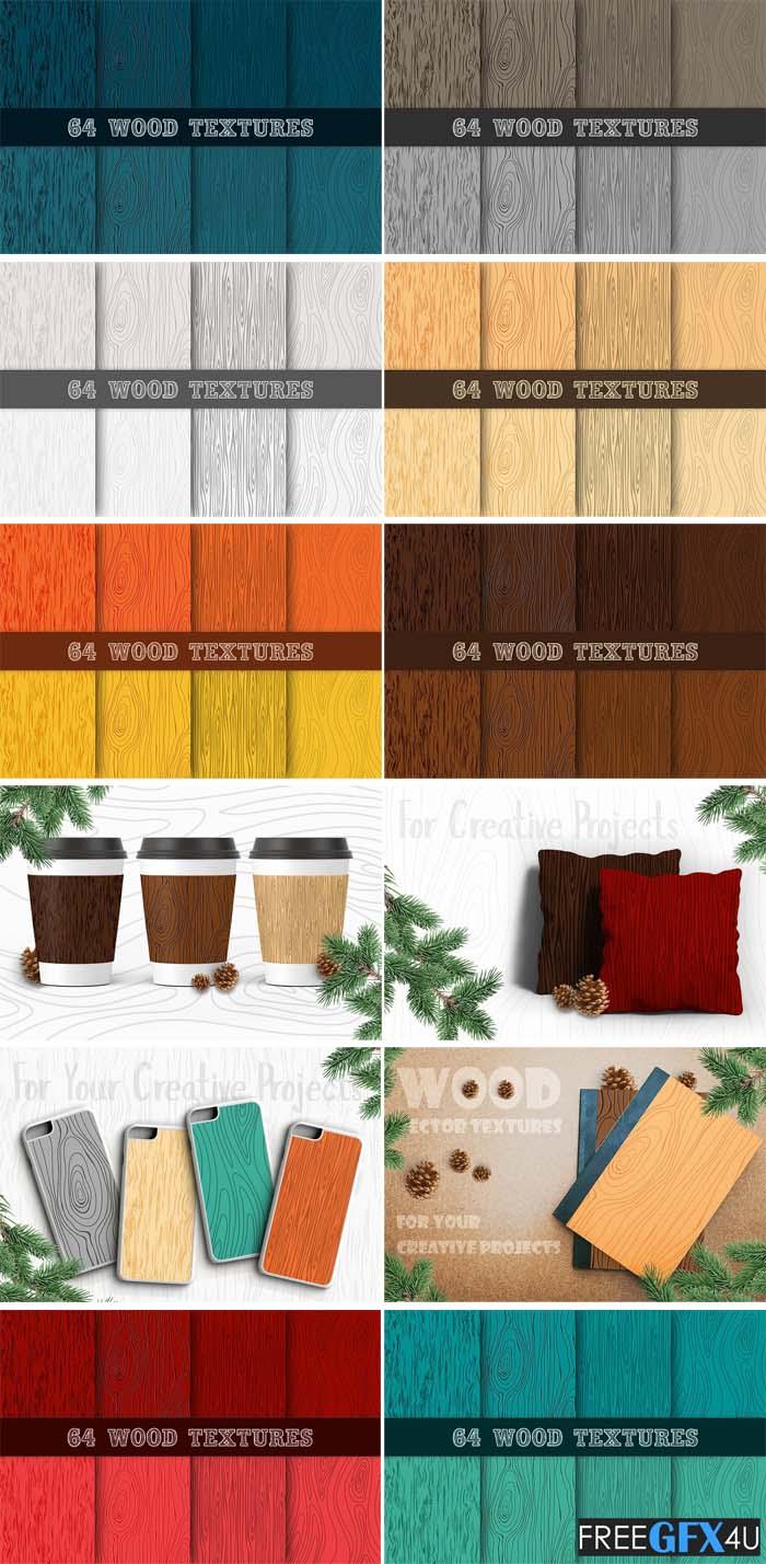 64 Wooden Vector Textures