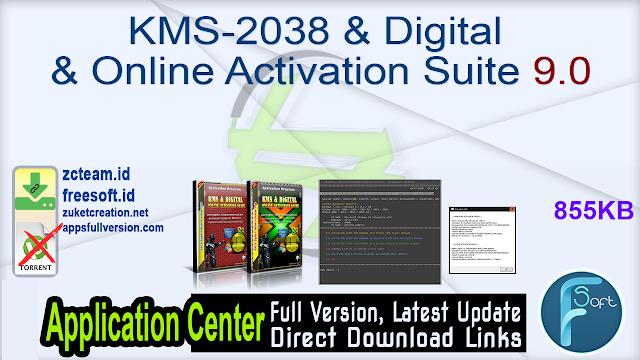 KMS-2038 & Digital & Online Activation Suite 9.0